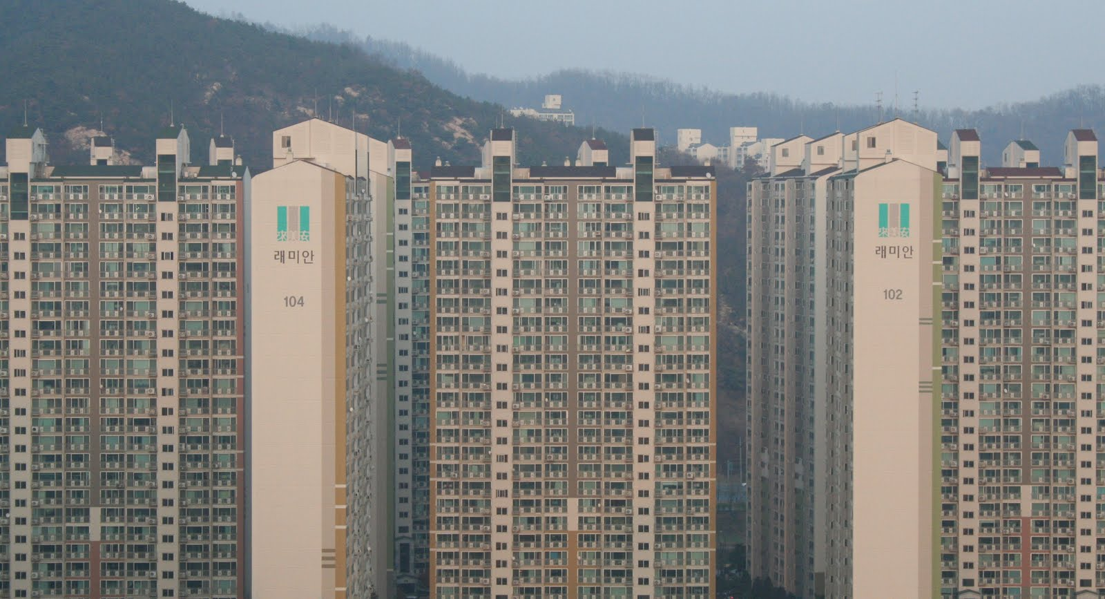 Apartment Buildings In Seoul