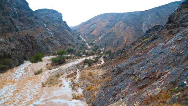 A soon-to-be flash flood, Muscat, Oman