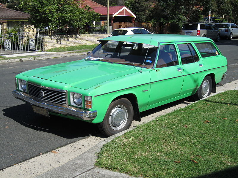 The trusty '76 Kingswood wagon. Mine was even greener... Photo: Jeremy from Sydney