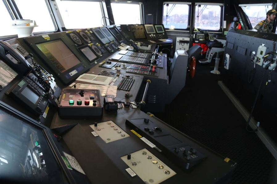 Part of the bridge of HMAS Canberra (there's more). Photo: Peninsularity Ensues