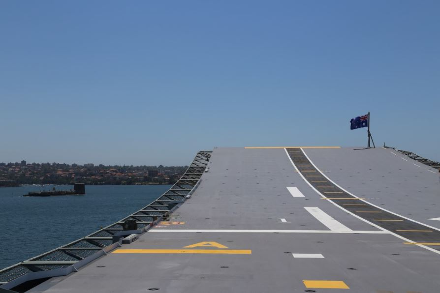 The 'ski jump', HMAS Canberra Photo: Peninsularity Ensues