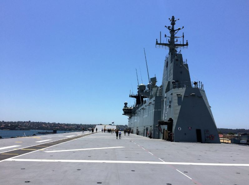 Flight deck, HMAS Canberra Photo: Peninsularity Ensues