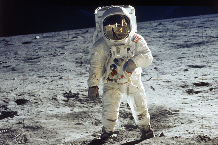 Buzz Aldrin in 1969 Photo: Getty Images